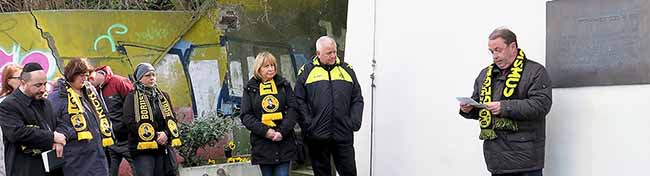 BVB-Mitglieder gedachten in Dortmund dem jüdischen Nationalspieler Julius Hirsch und den Opfern des Naziterrors