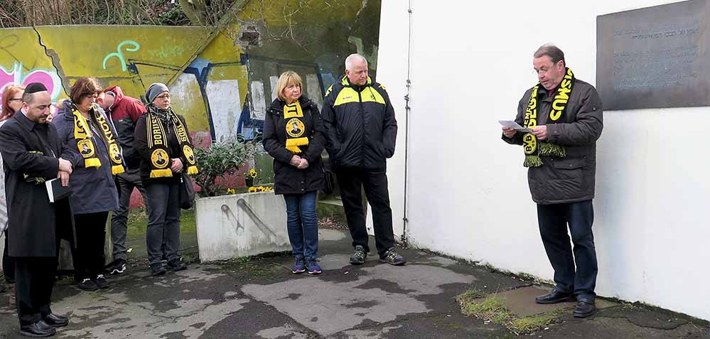 Das Gedenken für die Opfer fand am ehemaligen Dortmunder Südbahnhof statt.