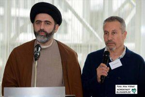 Sayed Ahmad vom Islamischen Zentrum Hamburg mit Organisator Dr. Hisham Hammad.