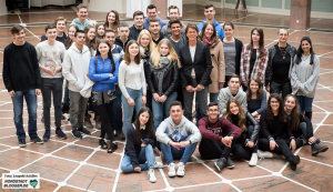 Bürgermeisterin Birgit Jörder empfing die deutschen und israelischen SchülerInnen im Rathaus.