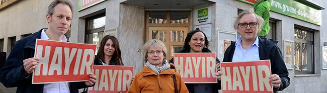 """""""HAYIR"""" zum Türkei-Referendum: """"Bündnis der Nein-Sager"""" demonstriert Samstag in Dortmund – Grüne setzen Zeichen"""