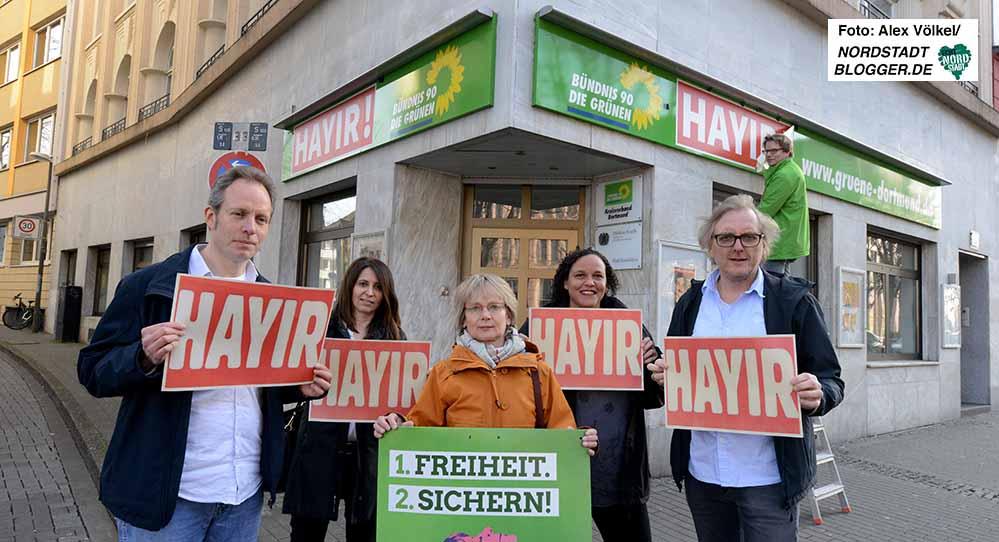 Die Kritiker des Verfassungsreferendums werden auch von den Dortmunder Grünen unterstützt.