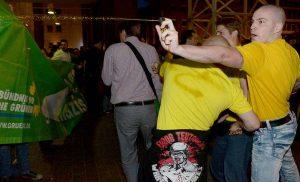 Neonazi-Ausschreitungen überschatteten im Mai 2014 den Wahlabend in Dortmund.