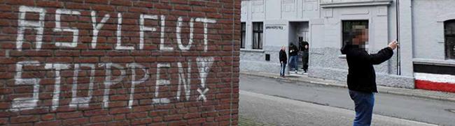 Flüchtlingsfeindliche Straftaten erneut auf Rekordhoch: 2016 gab es in NRW täglich zwei Vorfälle mit rechtem Hintergrund