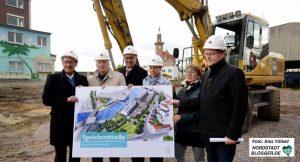 Mit dem Kanalbau beginnt der Umbau an Stadt- und Schmiedinghafen.