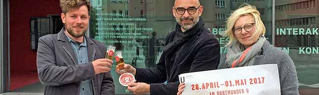"""Vor dem Dortmunder U dreht sich vier Tage lang alles ums Bier beim zweiten """"Festival der Bierkultur"""" in Dortmund"""
