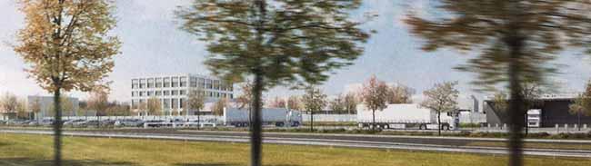 """""""Fort Knox"""" an der Bundesstraße 1: Richtkranz weht über dem 300 Millionen-Euro-Neubau der Bundesbank in Dortmund"""