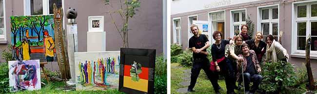 """Seit fünf Jahren gibt es die """"kunstdomäne"""" in der Nordstadt: Sieben kreative Köpfe arbeiten hier unter einem Dach"""