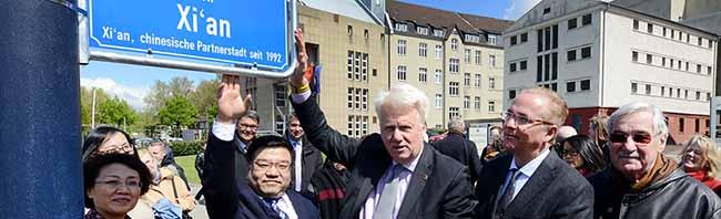 25 Jahre Partnerschaft zwischen Dortmund und Xi'an – ein Platz als Zeichen der Freundschaft und Verbundenheit