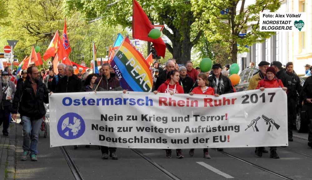 Der dreitägige Ostermarsch Rhein-Ruhr endete am Montag in Dortmund.