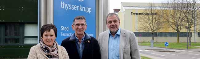 """Erinnerung an """"Nacht der 1000 Feuer"""": Betriebsräte im Kampf um bis zu 4000 Arbeitsplätze bei Thyssen Krupp Steel"""
