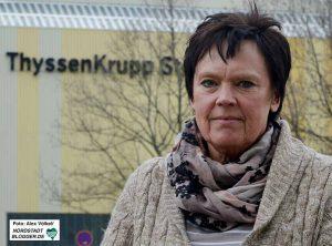 Sabine Birkenfeld ist Betriebsrats-Vorsitzende bei Thyssen Krupp Steel in Dortmund.
