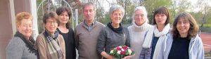 Der neu gewählte Vorstand des Freundeskreises Hoeschpark stellte sich zum Gruppenfoto.
