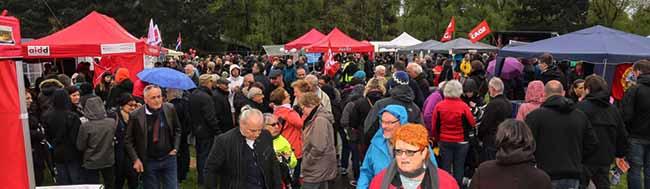 Demonstrationen zum 1. Mai in Dortmund blieben trotz des Nazi-Aufmarschs in Lütgendortmund friedlich