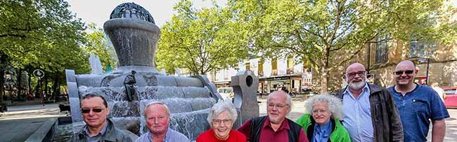 Belebende Elemente im öffentlichen Raum: Der Startschuss für die Sommersaison ist am Europabrunnen gefallen