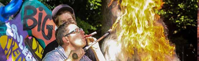 Der Vatertag am Big Tipi und das Westparkfest locken bei bestem Wetter zahlreiche BesucherInnen an