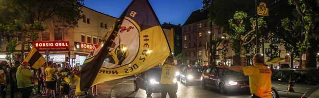 Wenn der BVB die Meisterschale gewinnen sollte: Großer Autokorso vom Borsigplatz bis in die City von Dortmund