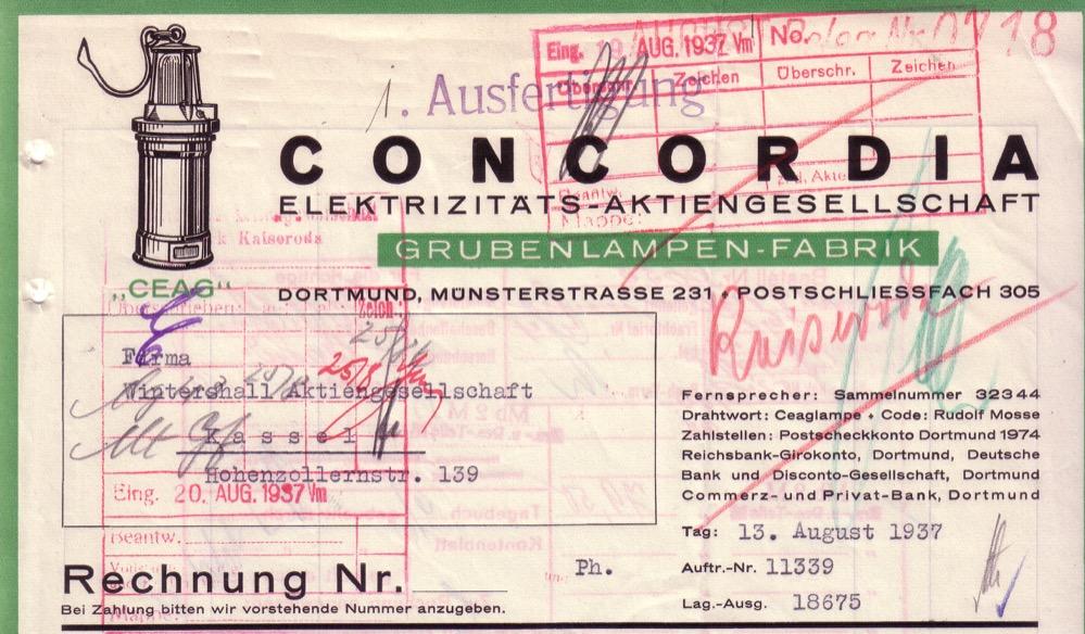 Die Grubenlampe war das Markenzeichen der CEAG. Repro: Sammlung Klaus Winter