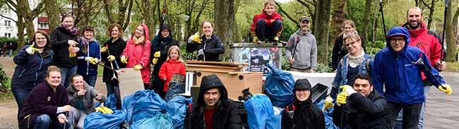 Große Ausbeute: Mitglieder der Christuskirche haben eine Müllaktion im Hafenquartier der Nordstadt gemacht