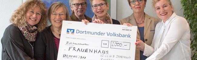 """Frauenhaus Dortmund erhält 2000 Euro: Gemeinsame Spende von """"spenDobel"""" und den """"Soroptimisten International"""""""