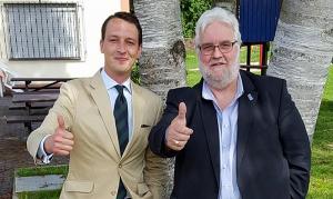 Das Direktkandidaten-Duo für Dortmund: Matthias Helferich (l.) und Heiner Garbe. Foto: AfD