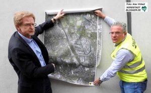 Planungsdezernent Ludger Wilde (links) stellte die Planungen vor.