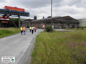 Die als Emscherschlösschen bezeichnete Werkstatthalle soll nach Möglichkeit erhalten bleiben.