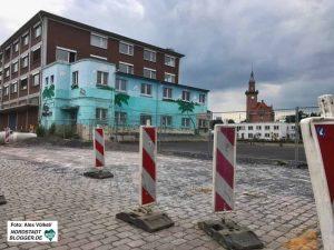 In der Speicherstraße haben die Kanalbauarbeiten begonnen.