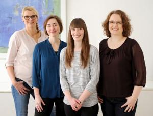 Claudia Ebbers, Claudia Chmel, Ria Burow, Martina Breuer (nicht im Bild: Johanna Gerke und Irene Kusenberg). Foto: Ricarda Mohr