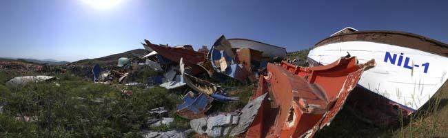 """""""Der Frieden trügt"""" – Hendrik Müller zeigt in der Nordstadt Panoramafotos von der einstigen Urlaubsinsel Lesbos"""