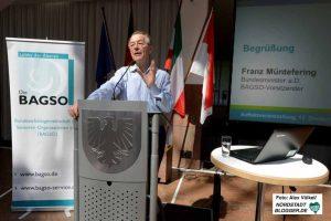 Franz Müntefering ist Vorsitzender der Bundesarbeitsgemeinschaft der Seniorenorganisationen.