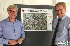 Martin Rüthers und Ludger Wilde stellten das neue Zukunftskonzept für den Wallring vor.