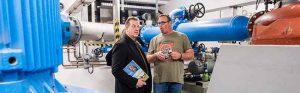 Der CDU-Bundestagsabgeordnete Thorsten Hoffmann besuchte am Tag der Daseinsvorsorge die Wasserwerke Westfalen. Fotograf: Stefan Fercho