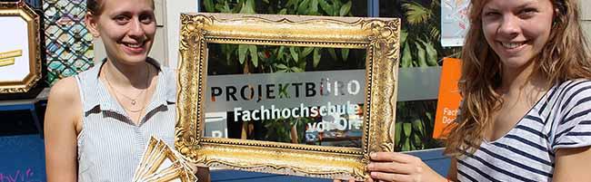 Ein goldener Rahmen für die Nordstadt: Das Projekt-Büro der Fachhochschule Dortmund sammelt individuelle Blicke