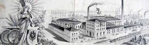 Ansicht der der Borussia- Brauerei auf einem Briefkopf aus der Sammlung von Peter Nicolau Dortmund.