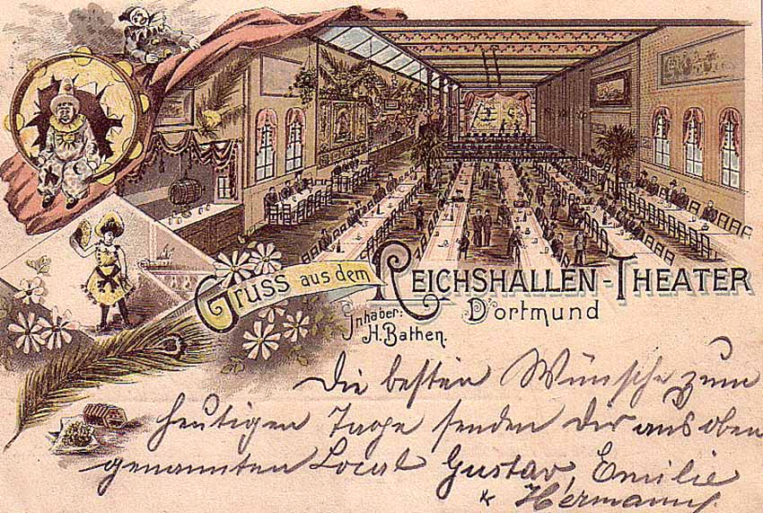 Ansichtskarte der Reichshallen am Dortmunder Westenhellweg. Bild: Sammlung Klaus Winter