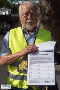 Amnesty International sammelt Unterschriften