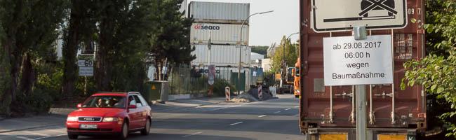 Erneute Vollsperrung am Hafen: Der letzte Bauabschnitt der Fahrbahnerneuerung in der Kanalstraße beginnt