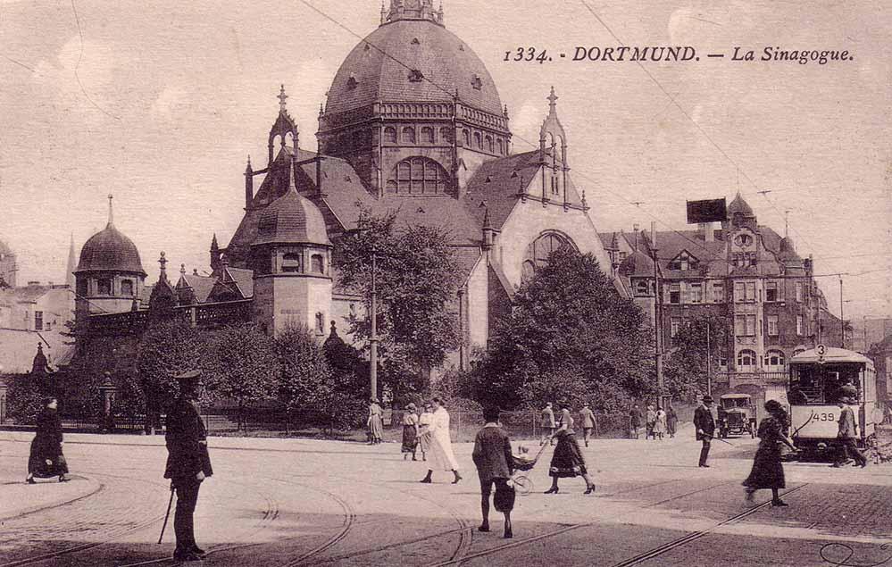 Die Dortmunder Synagoge - eine Ansicht aus dem 1923. Die Nazis verfügten den Abriss. Foto: Sammlung Klaus Winter