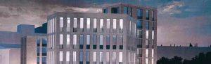 So soll das neue Gebäudeensemble von der Wallseite aus aussehen. Ansicht: Stadt