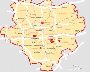 Karte Stadt Dortmund