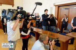 Groß war das Medieninteresse am Prozessauftakt des sogenannten Terrorprozesses in Dortmund.