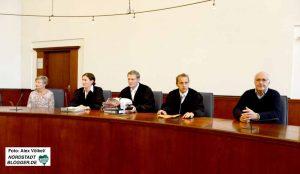 Unter dem Vorsitz von Richter Dirk Kienitz verhandelt die Staatsschutzkammer des Landgerichtes in Dortmund den Prozess wegen der Vorbereitung einer schweren staatsgefährdenden Straftat.