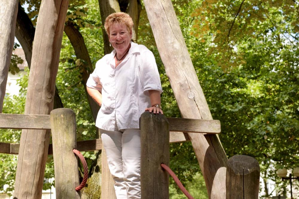 Annette Kritzler ist neue Quartiersmangerin für den Nordmarkt. Foto: Ole Steen