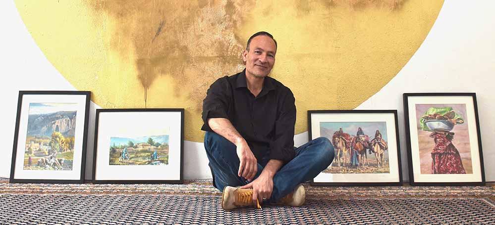 Sultan Khairandish verarbeitet in seinen Bildern Motive aus seiner afghanischen Heimat.
