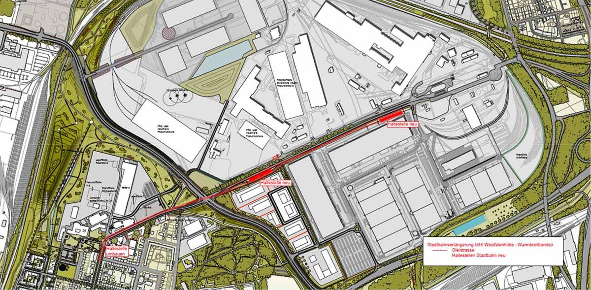 Die U44 soll zwei weitere Stationen auf dem Areal der Westfalenhalle bekommen.