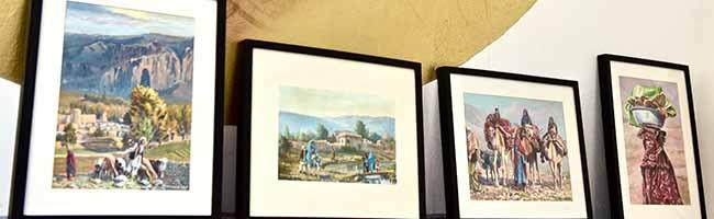 """Live-Kunst im Schaufenster: Sultan Khairandish malt während der """"Offenen Nordstadt-Ateliers"""" 2017 in der """"Galerie 103"""""""