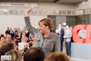 Angela Merkel am 12. August in der Westfalenhalle 2 in Dortmund.