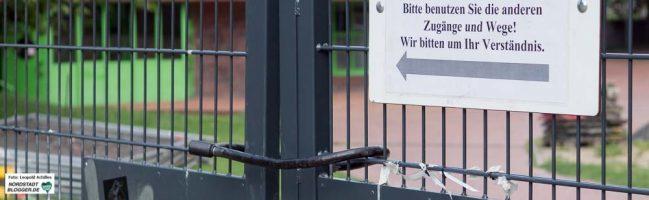 Der Zaun steht: Bauarbeiten am Außengelände des Dietrich-Keuning-Hauses in der Nordstadt haben begonnen