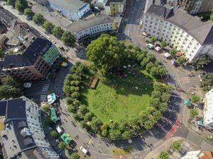 Der Borsigplatz aus der Vogelperspektive.